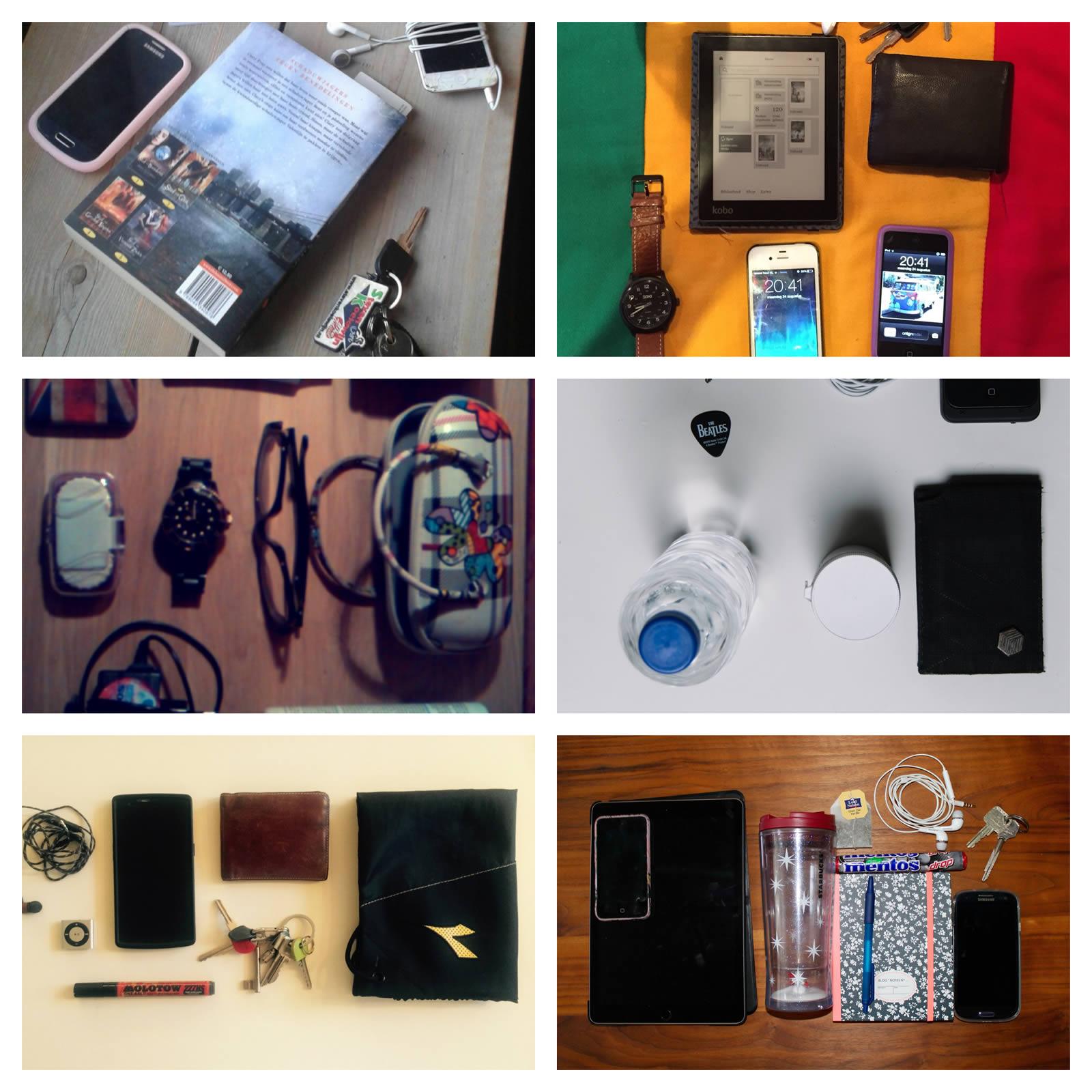Foto's van de essentiële bagage van havo 4